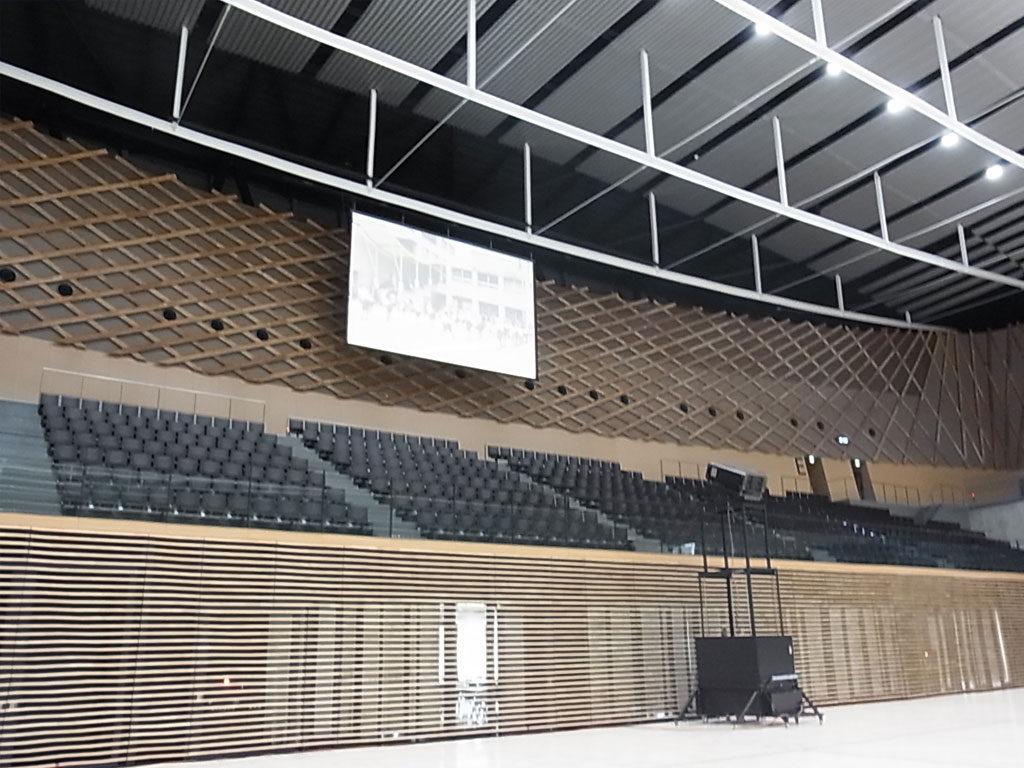 総合体育館映像設備工事
